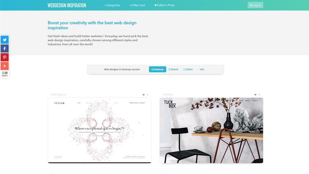 Webdesign Inspiration screenshot
