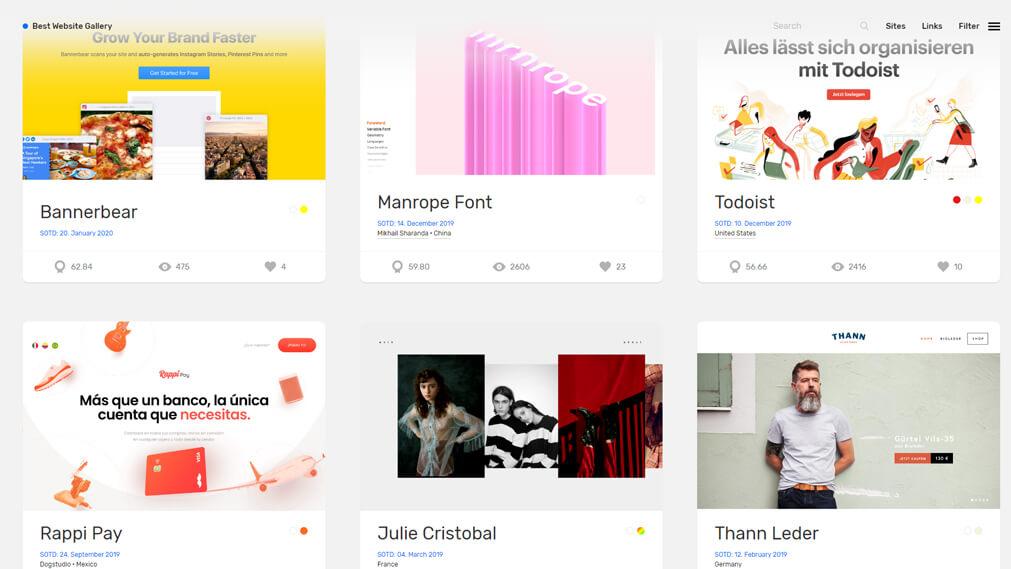 bestwebsite.gallery screenshot