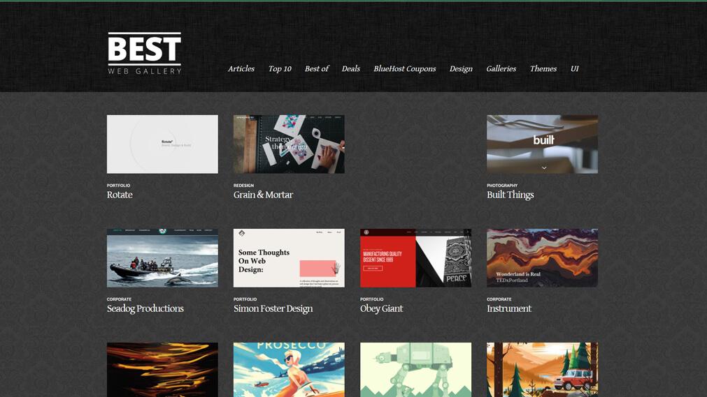 bestwebgallery.com screenshot