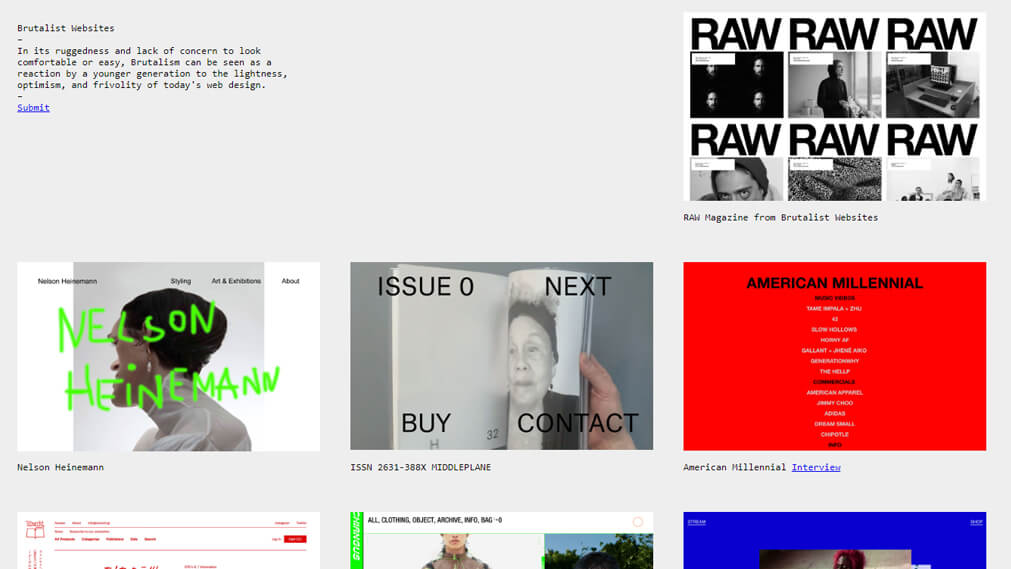 brutalistwebsites.com screenshot