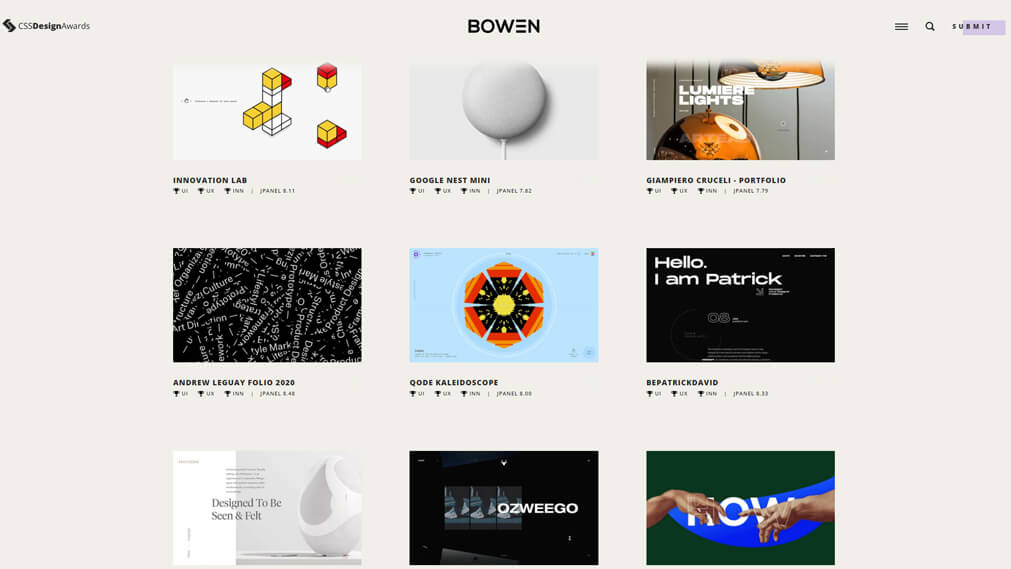 cssdesignawards screenshot