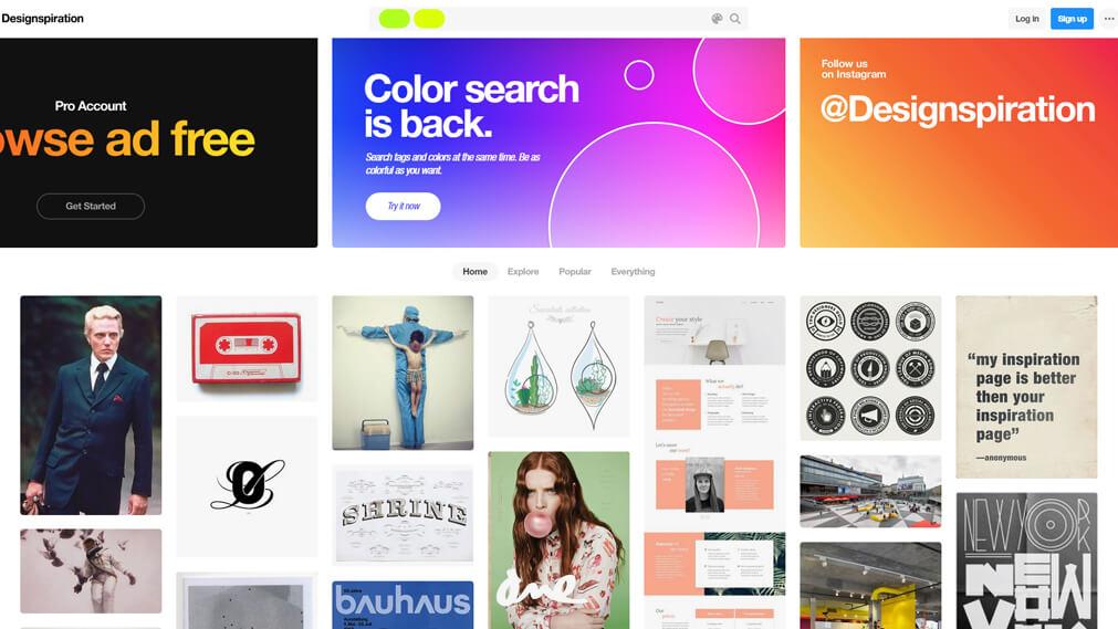 designspiration.com screenshot