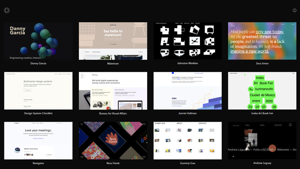 minimal.gallery screenshot