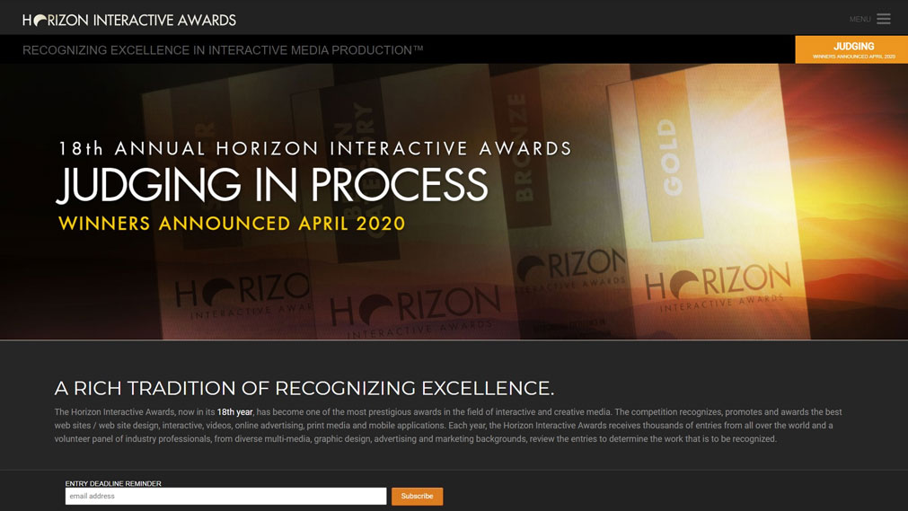 Horizon Interactive Awards Screenshot