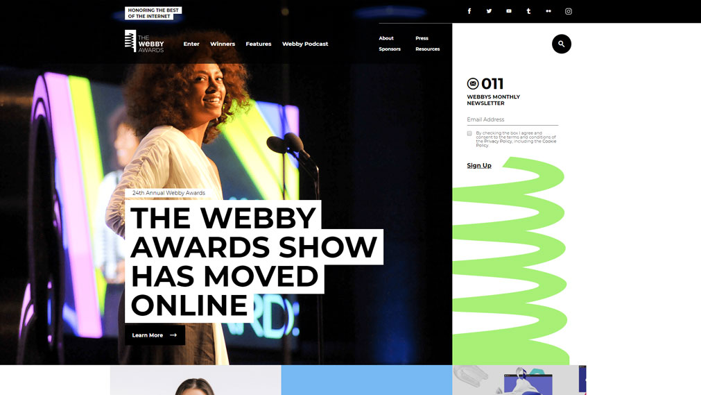The webby awards Screenshot